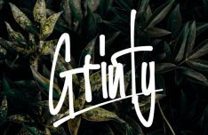 GRINTY Brush Font-min