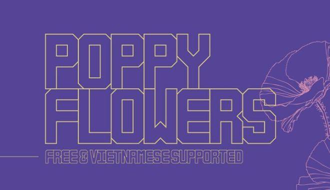 Poppy Flowers Font-min