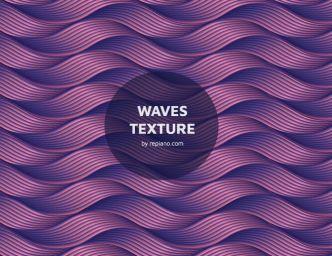 Vintage Waves Texture For Illustrator-min