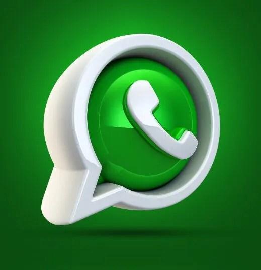 3D WhatsApp Icon PSD-min