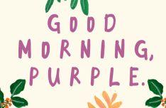 Good Morning Purple Handwritten Font-min