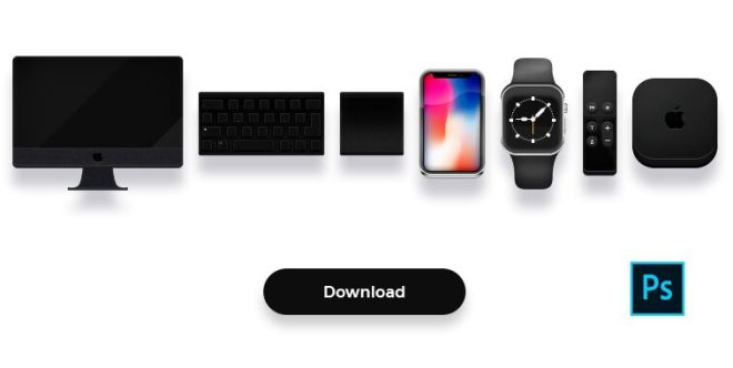 Mini Apple Device Icons PSD