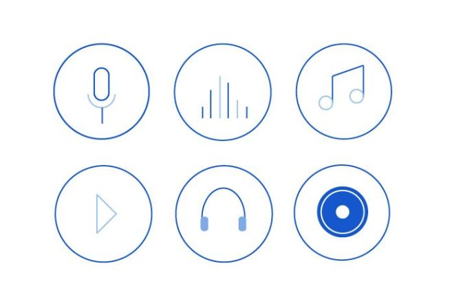6 Minimal Music Icons Vector-min