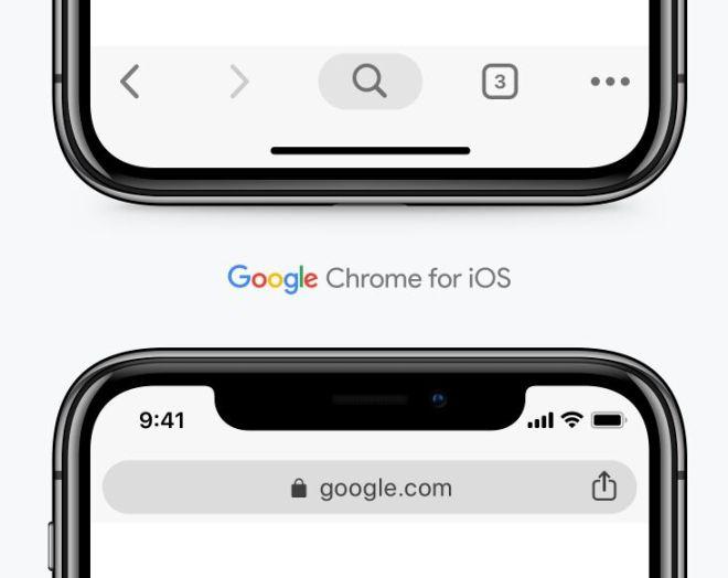 Google Chrome Browser For iOS Sketch