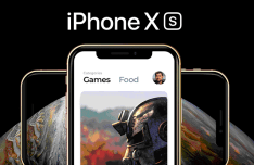 Realistic iPhone XS Mockup Template For Sketch