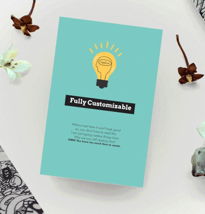 Customizable Card Design Template For Photoshop