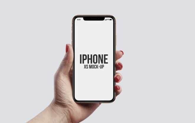 iPhone XS In Hand PSD Mockups