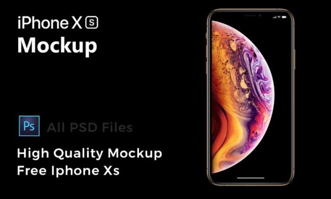 HD iPhone XS PSD Mockup