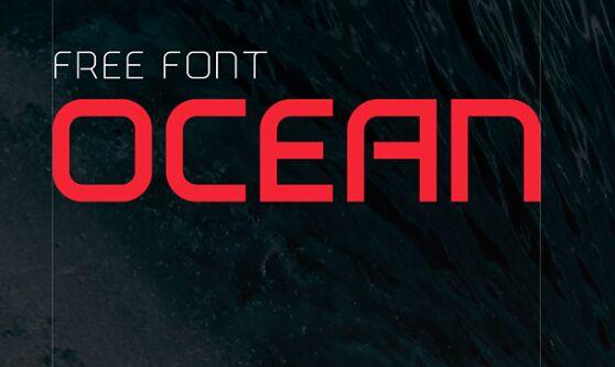 Ocean Modern Typeface