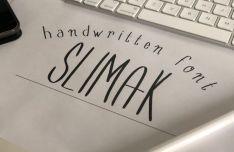 Slimak Handwritten Font