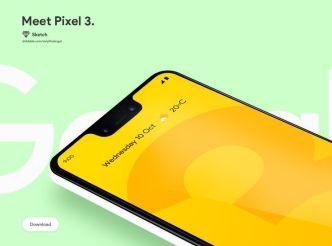 Google Pixel 3 Mockup For Sketch