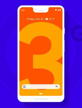 Minimal Flat Google Pixel 3 XL Sketch Mockup