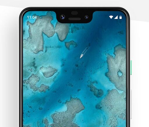 Realistic Google Pixel 3 XL PSD