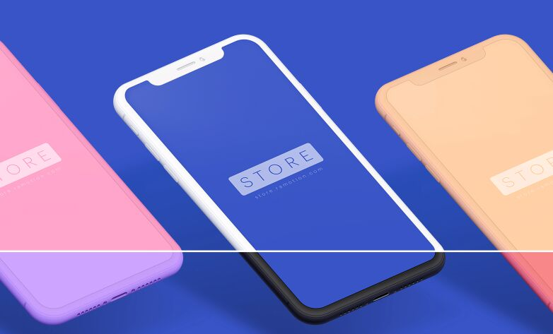 Free Perspective Iphone X Clay Psd Sketch Mockup Titanui