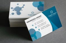 Print-ready Graphic Business Card Template (AI+PSD)