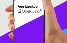 Realistic OnePlus 6T PSD Mockup