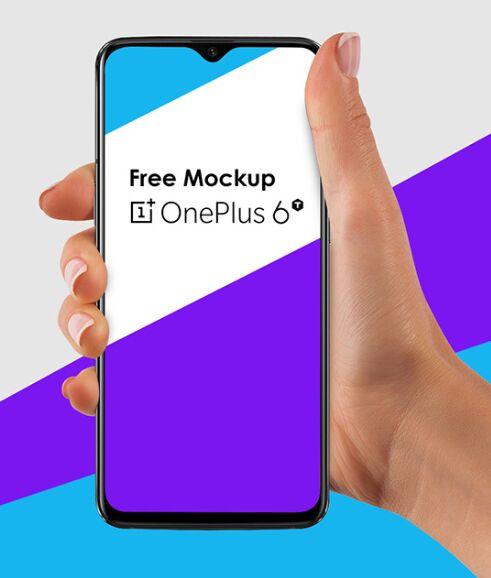Realistic OnePlus 6T PSD Mockup