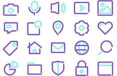 Modern Outline Vector Icons