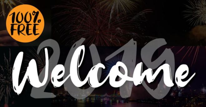 WELCOME Brush Typeface