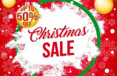 Christmas Sale Banner Template For Illustrator