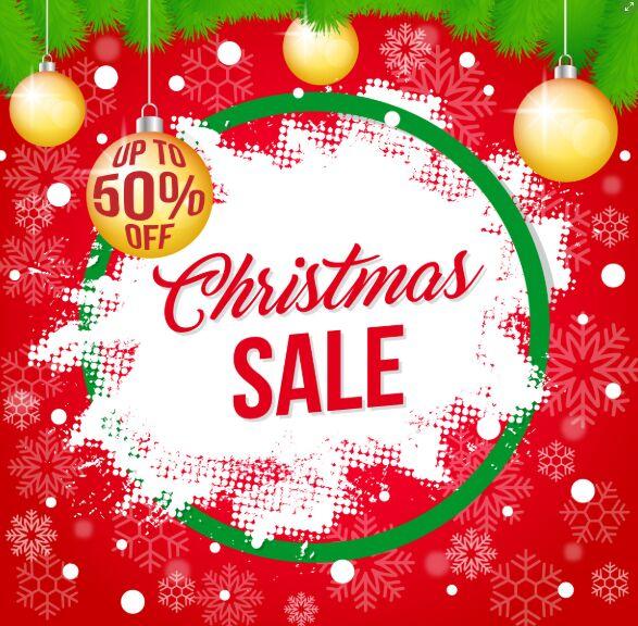 Christmas Sale Banner Template For Illustrator