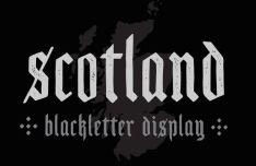 Scotland Blackletter Typeface