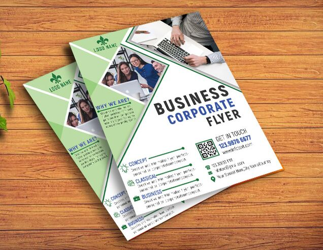 Professional Business Flyer Template In Layered PSD