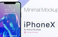 Minimal iPhone X Series PSD Mockup