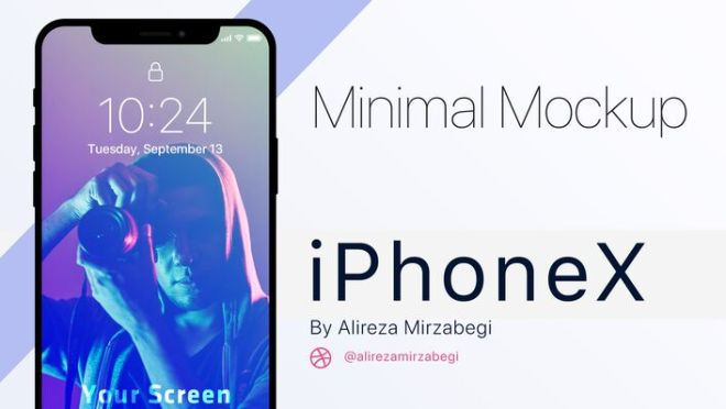 Minimal iPhone X Series PSD Mockup