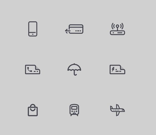 9 Minimal Icons For Payment App