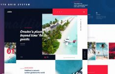 Fashion Travel Landing Page Template PSD