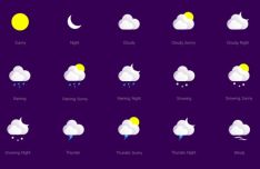 17 Vector Weather Icons