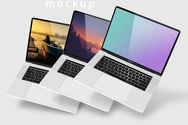 UHD Macbook PSD Mockups