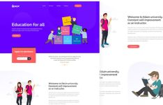 Modern Education Web Template PSD