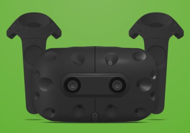 HTC Vive Virtual Reality Headset Sketch Mockup