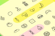 45 Food Icons Vector