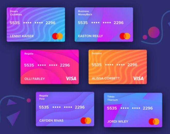 Credit Card Kit For Adobe XD