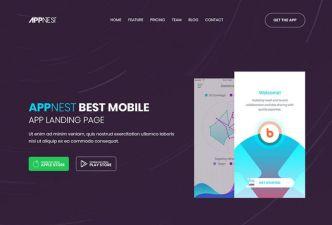 Soft App Landing Page Template PSD