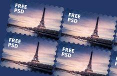 Realistic Stamp Mockup PSD