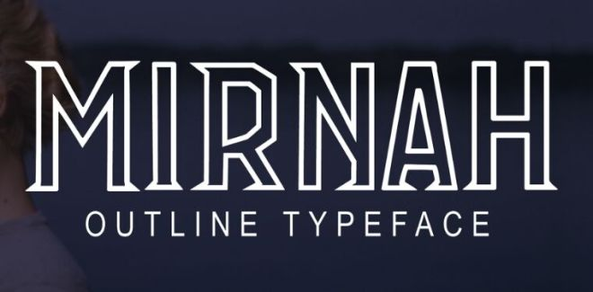 Mirnah Outline Typeface