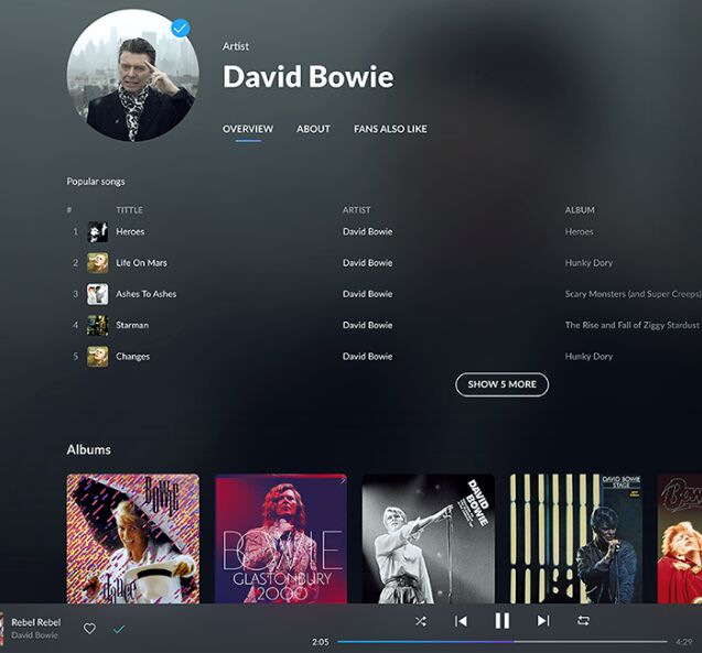 MusicBox Music App UI Kit