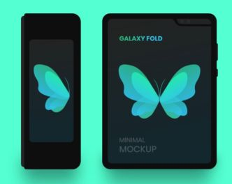 Minimal Samsung Galaxy Fold Mockup For Sketch