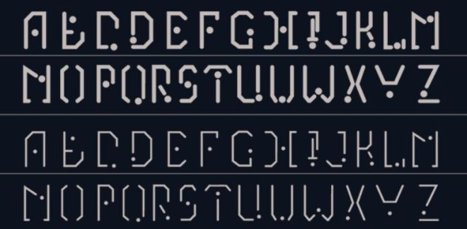 Asymbolic Science-fiction Font