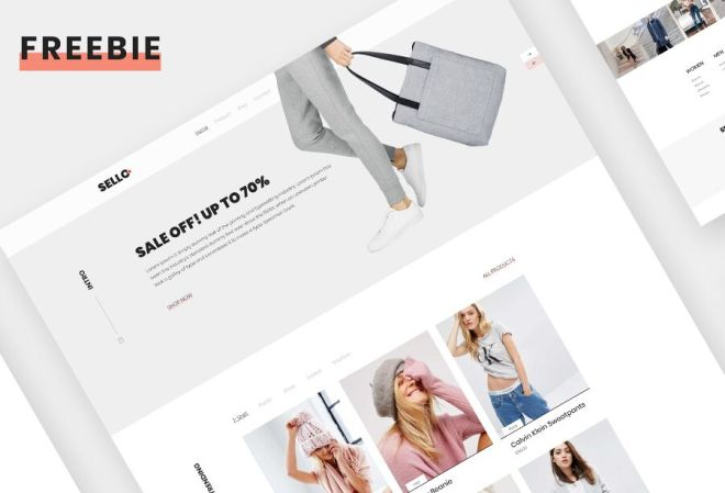 Clearn E-commerce Website Template For Adobe XD