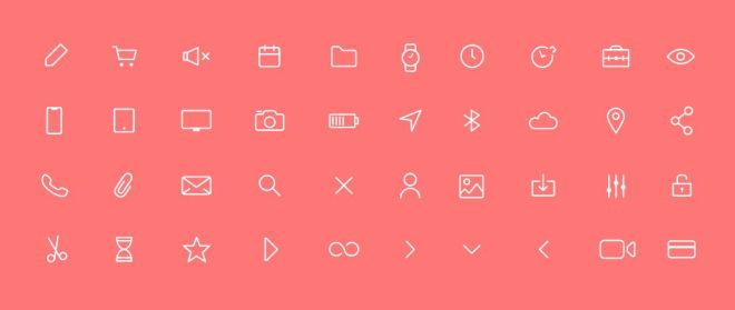 40 Thin Line Icons Pack (AI+Sketch)