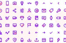 60 Line Offset Fill Icons (PNG, SVG, Sketch)