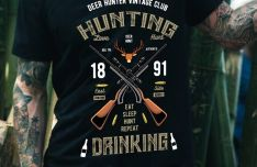 Hunting T-Shirt Design Vector