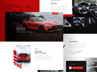 Modern Card Landing Page Template For Adobe XD