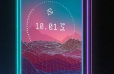 Neon IPhone X PSD Mockup