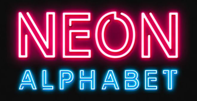 Neon Alphabet For Adobe After Effects